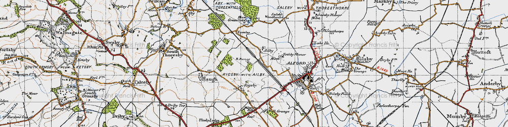 Old map of Ailby in 1946