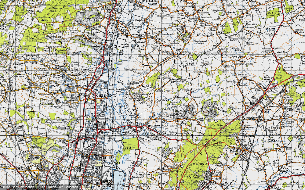 Old Map of Aimes Green, 1946 in 1946