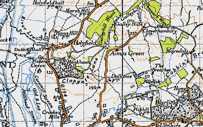 Old map of Aimes Green in 1946