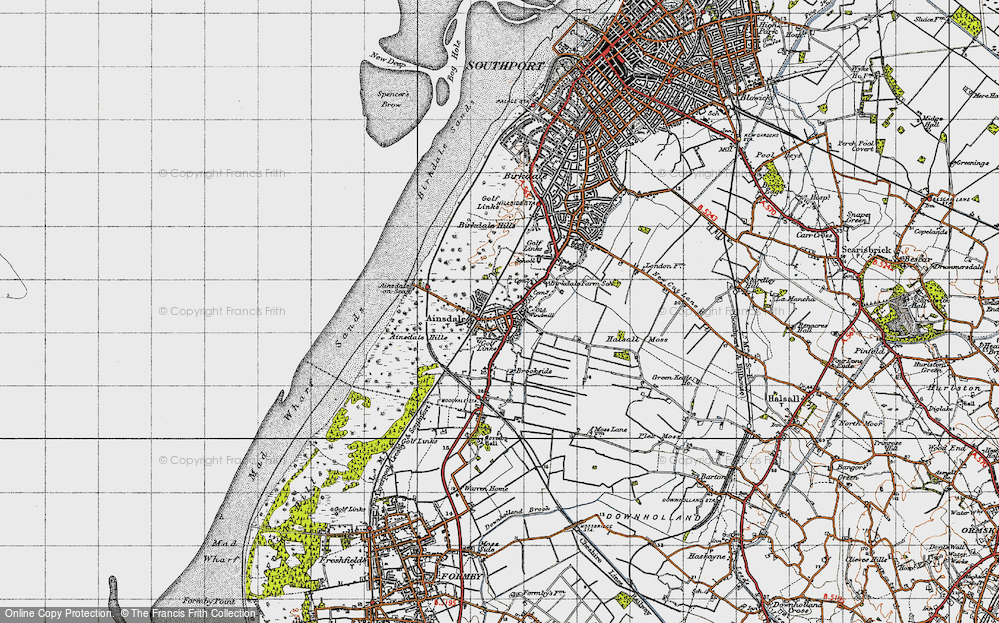 Old Map of Ainsdale, 1947 in 1947