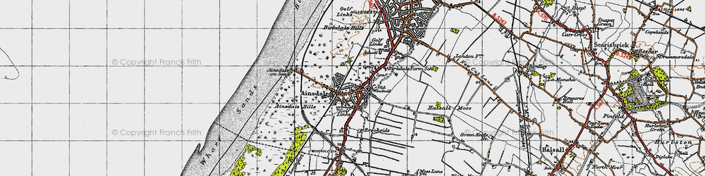 Old map of Ainsdale in 1947