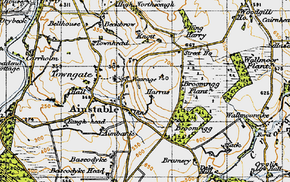 Old map of Ainstable in 1947