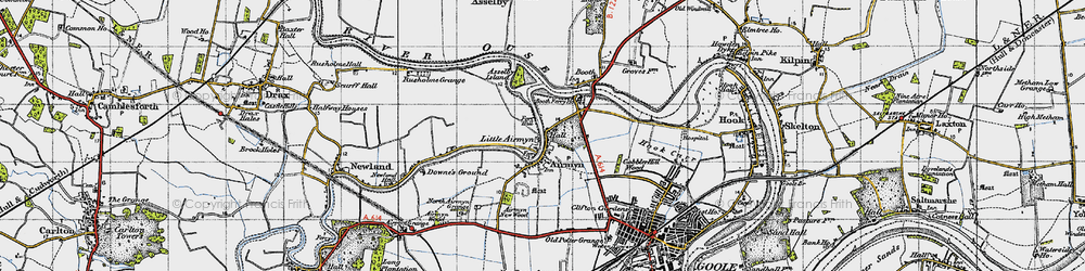 Old map of Airmyn in 1947