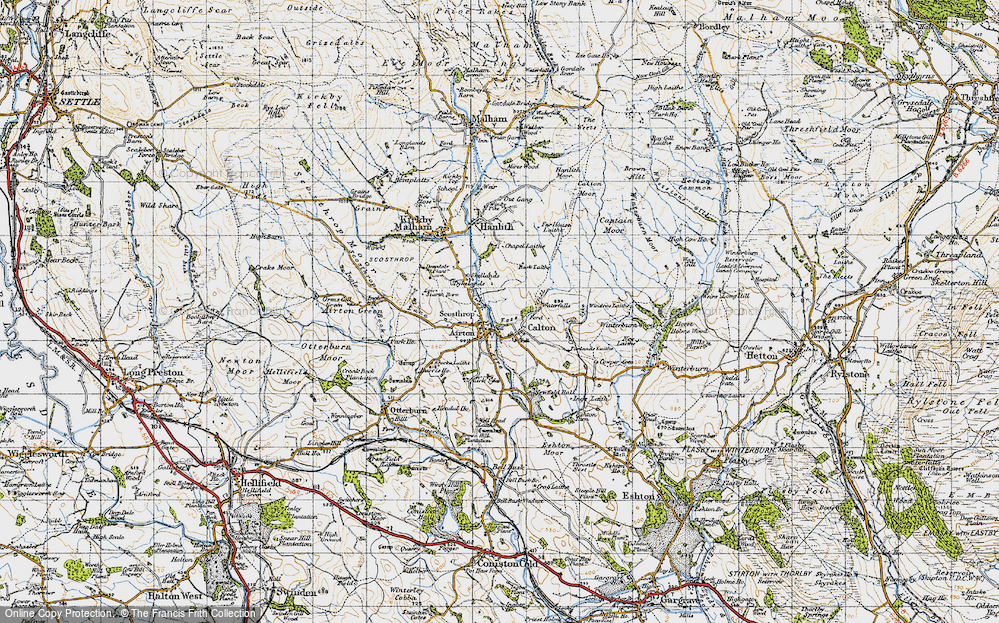 Old Map of Airton, 1947 in 1947