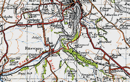 Old map of Airy Hill in 1947