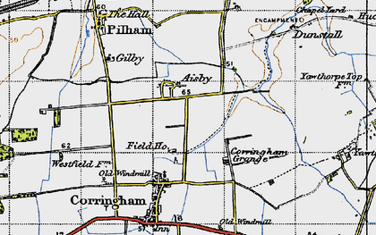 Old map of Aisby in 1947