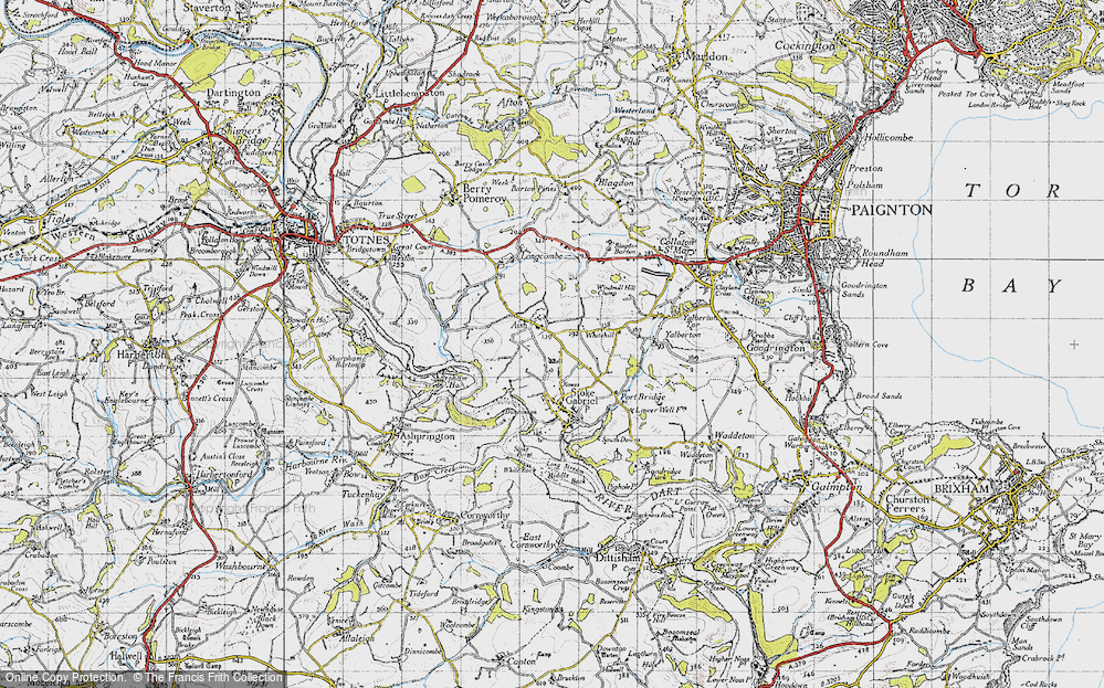 Old Map of Aish, 1946 in 1946