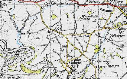 Old map of Windmill Hill Clump in 1946