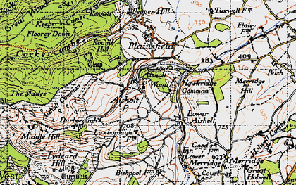 Old map of Aisholt in 1946