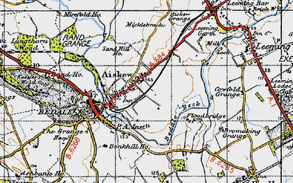 Old map of Aiskew Grange in 1947