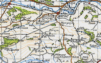 Old map of Aithnen in 1947