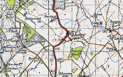 Old map of Akeley Wood School in 1946