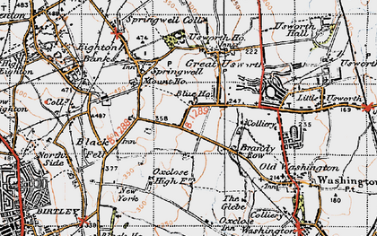 Old map of Albany in 1947