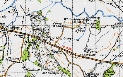 Old map of White Abbey in 1947