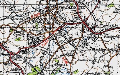 Old map of Albert Village in 1946
