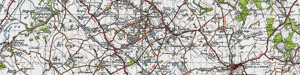 Old map of Albert Village in 1946