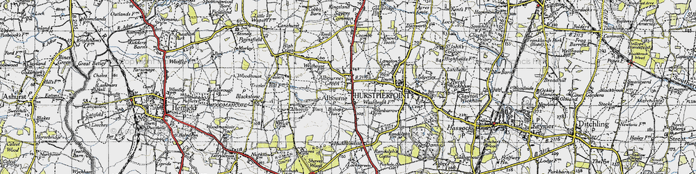 Old map of Albourne Green in 1940