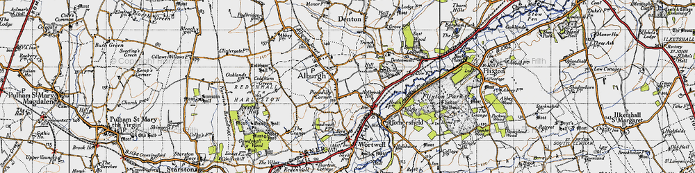 Old map of Alburgh in 1946