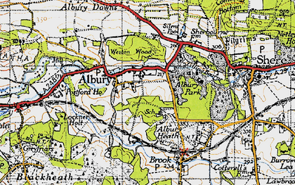 Old map of Albury Park in 1940