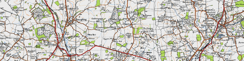 Old map of Albury in 1946