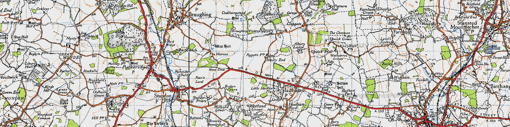 Old map of Albury End in 1946