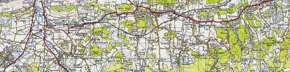 Old map of Albury Heath in 1940
