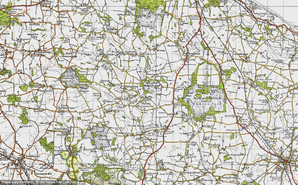Old Map of Alby Hill, 1945 in 1945