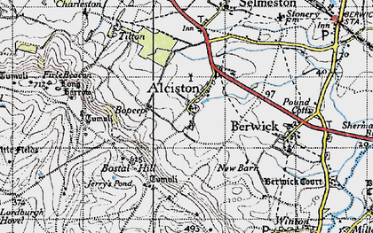 Old map of Alciston in 1940