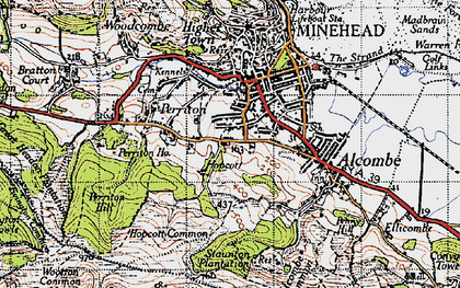 Old map of Alcombe in 1946