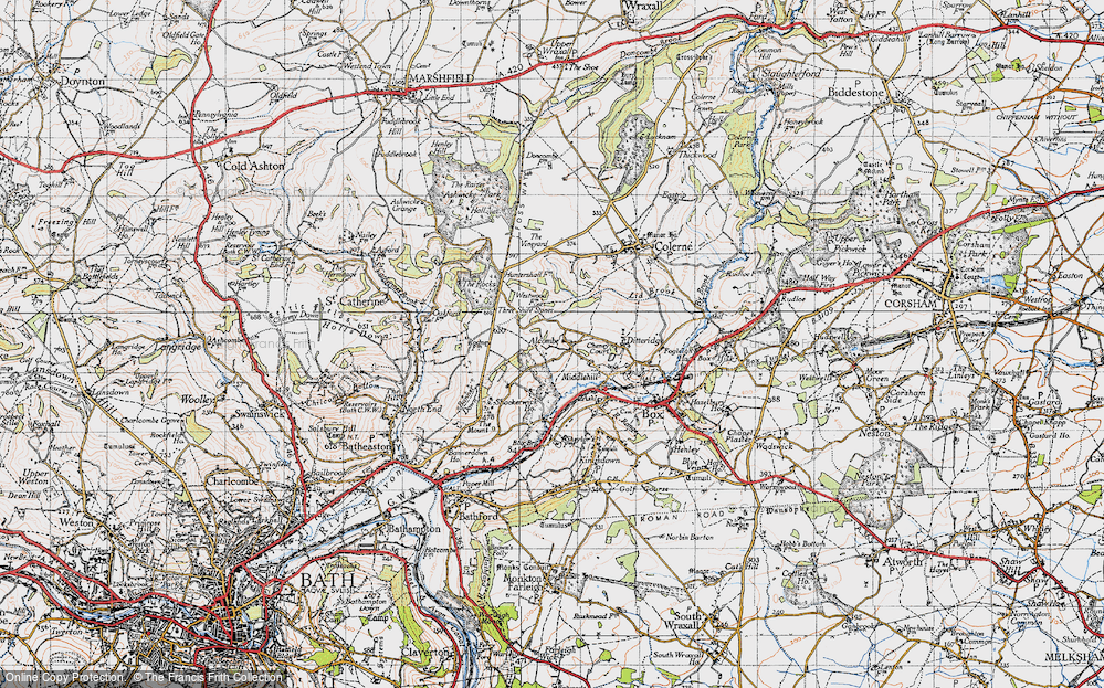 Old Map of Alcombe, 1946 in 1946
