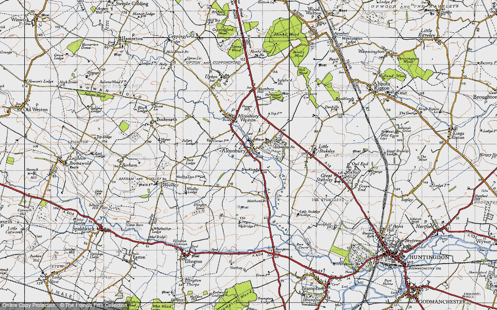 Old Map of Alconbury, 1946 in 1946