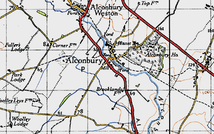 Old map of Alconbury in 1946