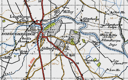 Old map of Aldborough Grange in 1947
