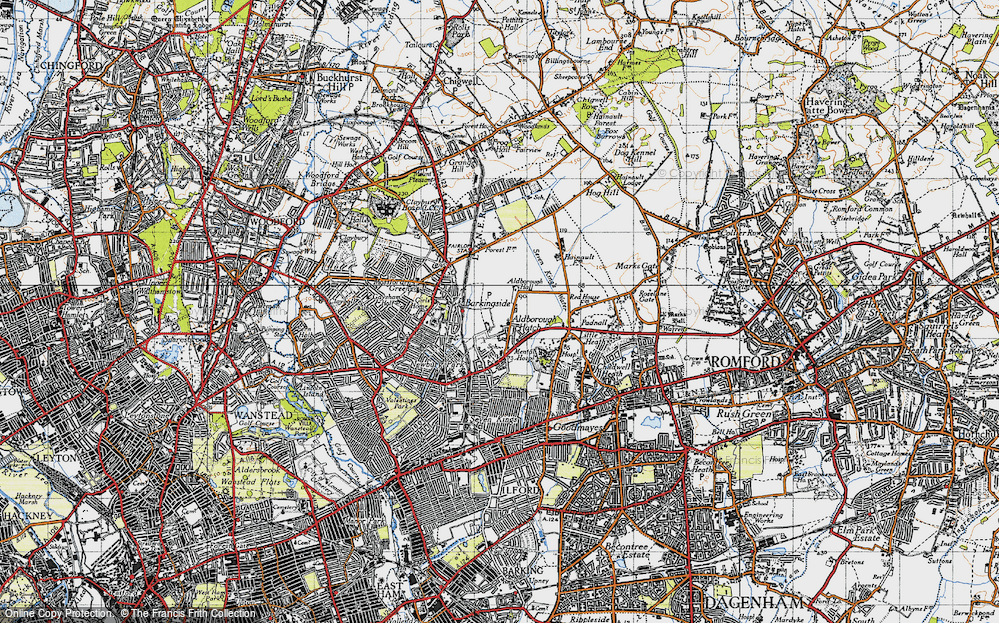 Old Map of Aldborough Hatch, 1946 in 1946