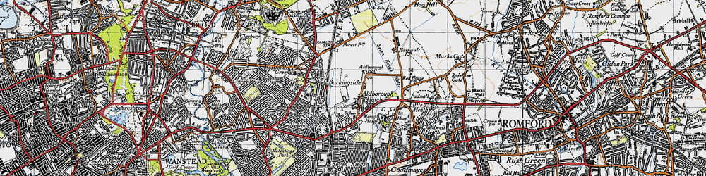 Old map of Aldborough Hatch in 1946