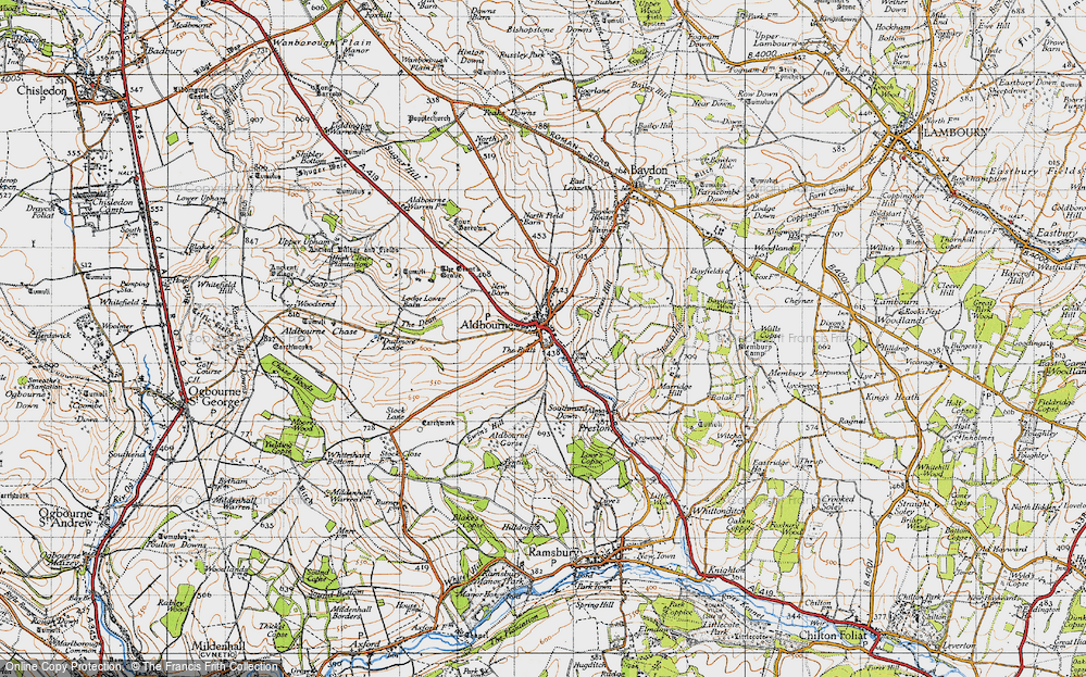 Old Map of Aldbourne, 1947 in 1947