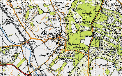 Old map of Aldbury Common in 1946