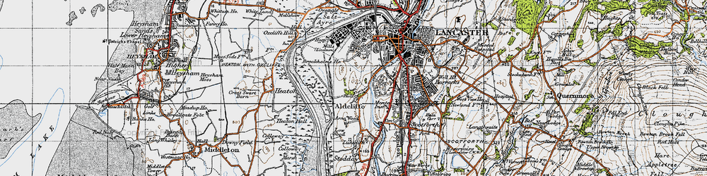 Old map of Aldcliffe in 1947