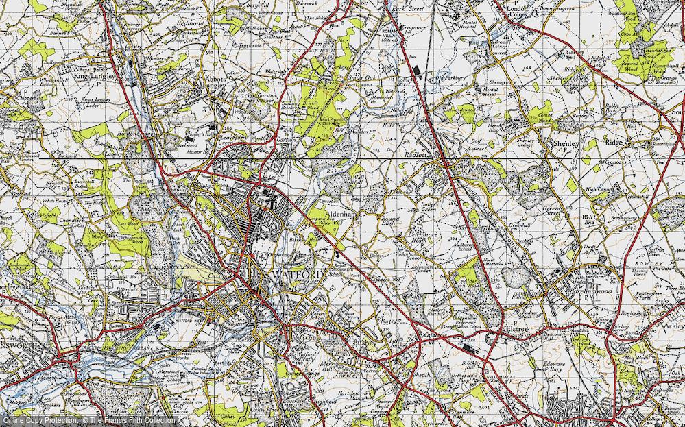 Old Map of Aldenham, 1946 in 1946