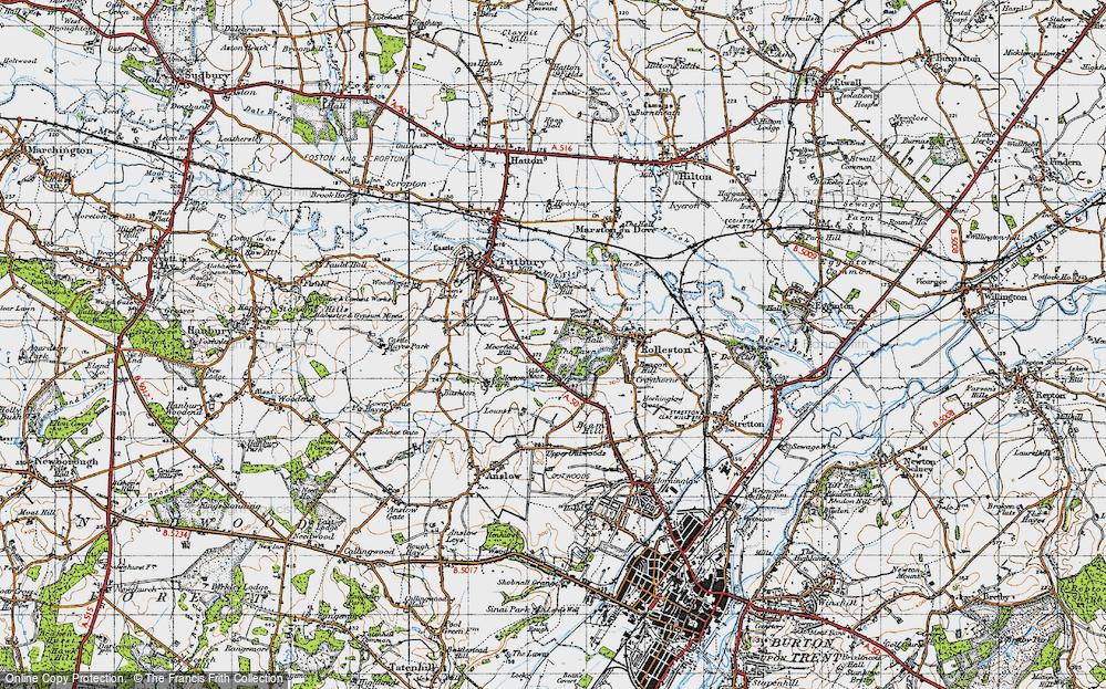 Old Map of Alder Moor, 1946 in 1946
