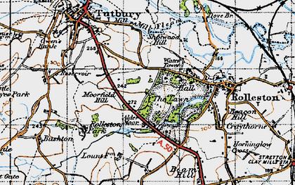 Old map of Alder Moor in 1946