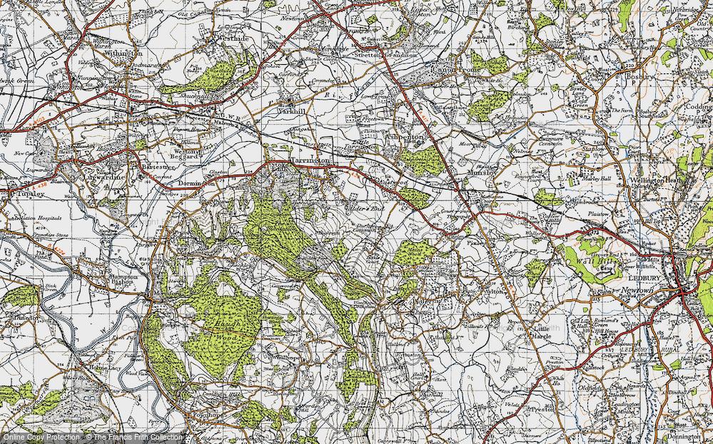 Old Map of Alder's End, 1947 in 1947
