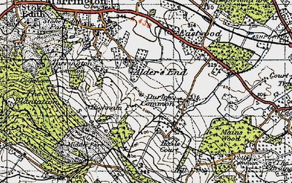 Old map of Alder's End in 1947