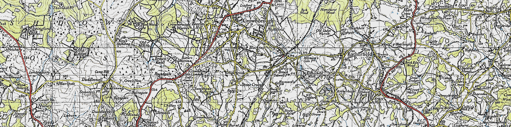 Old map of Alderbrook in 1940