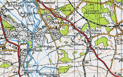 Old map of Alderbury Ho in 1940