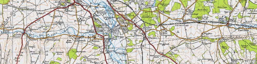 Old map of Alderbury in 1940