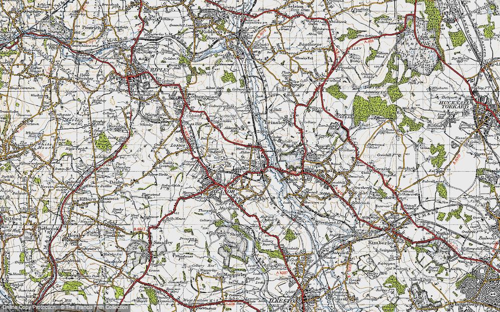 Old Map of Aldercar, 1946 in 1946