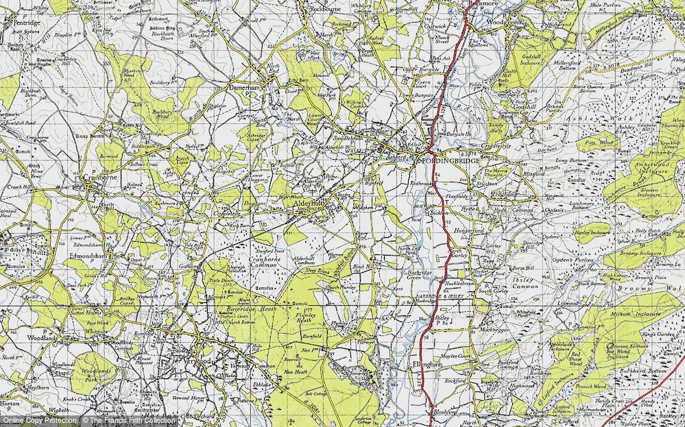 Old Map of Alderholt, 1940 in 1940