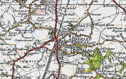 Old map of Alderley Edge in 1947
