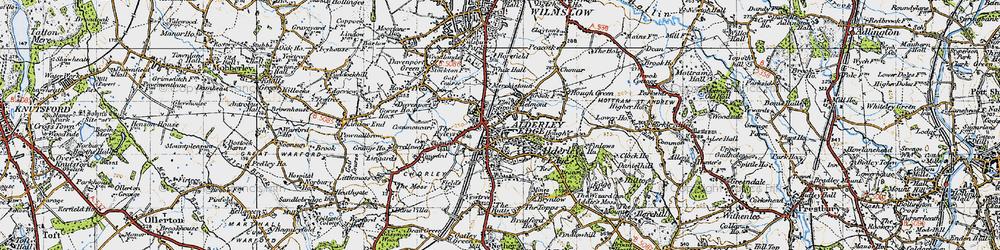 Old map of Alderley Edge in 1947